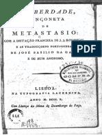 Liberdade Metastasio e Basilio