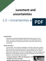1.2 - Uncertainties and Errors