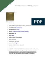 Descargar Cuestiones Esteticas y Artisticas Contemporaneas en PDF de Adolfo Sanchez Vazquez