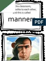Class Posters Etiquette