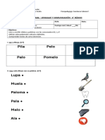 Evaluación 1- Lenguaje