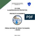 Elaboracion de Proyectos Riegos