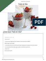 Receta Pudín de Chía _ Gourmet