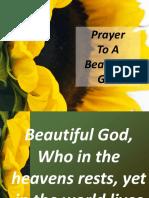 Prayer to a Beautiful God