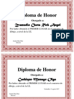 Diploma de Dbujo