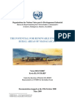 The Potential for Renewable Energies in Rural Areas of Madagascar (March 2009)