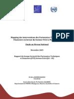 Mapping des interventions des Partenaires Techniques et Financiers en faveur du Secteur Privé à Madagascar