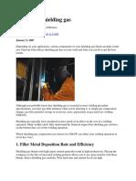 7 Effects of Shielding Gas