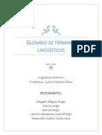 GLOSARIO de Términos Lingüísticos