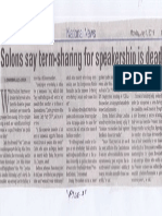 Manila Bulletin, July 1, 2019, Solons say term-sharing for speakership is dead.pdf