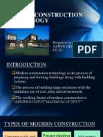 Modern Construction Technology