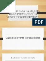 Calculo para la mejora de la venta y la productividad