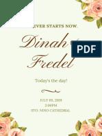 Floral Wedding Program (1)