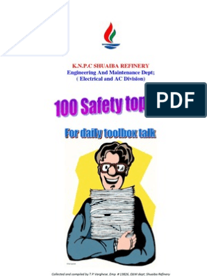 100 Safety Topics for Daily Toolbox Talk | Combustion | Fires