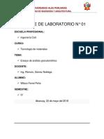 Informe de Laboratorio de Tecnologia de Materiales