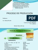 Proceso de Produccion de Un Buzcochuelo Casero