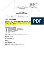 13.Campus Notice of Arxxus Technologies on 4th October 2017