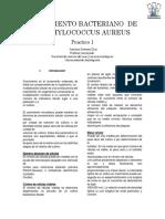 Crecimiento Bacteriano de Staphylococcus Aureus