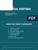 A Workshop on Editorial Writing