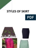 Styles of Skirt