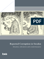 2013 22 Reported Corruption in Sweden