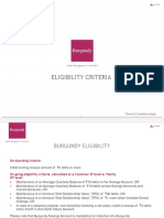 Burgundy Eligibility Criteria