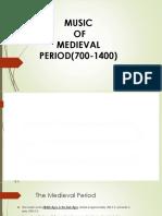 Lesson 1 Medieval Period