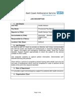 111 Call Handler (Health Advisor) - Band 3 Job Description & Person Specification (1)