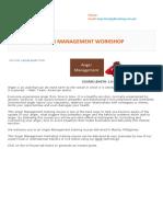 Anger Management Training Outline