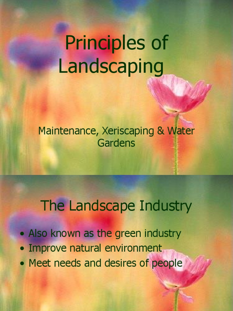 Principles Of Landscaping Ppt Mulch Gardens Free 30 Day