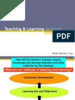 Choosing Pedagogical and Interactive Training Methods