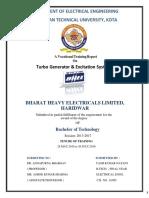 BHEL Haridwar Internship report