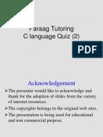 C Language Quiz(2) PPT
