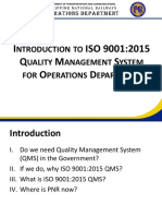 Introduction to QMS for Operations Personnel