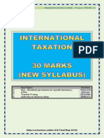 CA Final Kalpesh Classes F01 - May 2019 (International Taxation)