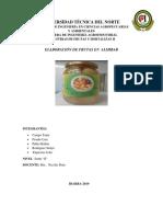 Informe3 Práctica Frutas en Almibar