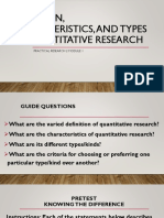 Definition, Characteristics and Types of Quantitative Research