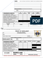 g11 Envelope Tag and Proof of Enrolment