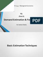03.II Demand Forecasting