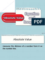 CUATERNO - Equation and Inequalities Involving Absolute Value