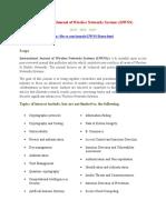 International Journal of Wireless Networks Systems (IJWNS)