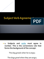Lecture - Subject Verb Agreement