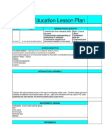 Vollyball Lesson Plan