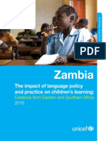 UNICEF(2016)LanguageandLearning Zambia