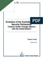 Evolution of the Australia-Japan Security Partnership