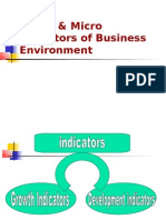 Macro & Micro Indicators of Business Environment