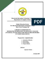 Online Education System for Microlink Information Technology College Dawit Kassu