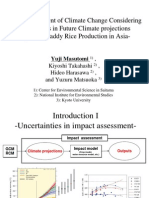 Impact Assessment of Climate Change Considering Uncertainties in Future Climate Projections-Impact on Paddy Rice Production in Asia_Masutomi