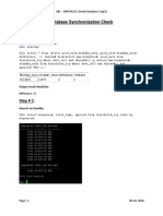 Database Switchover Steps