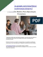 Tratamento Medico Para Ejaculação Prematura